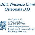 DOTT. VINCENZO CRIMI OSTEOPATA D.O.