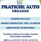 PRATICHE AUTO CREAZZO