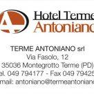 HOTEL TERME ANTONIANO srl