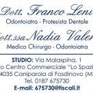 DOTT. FRANCO LENI - DOTT.SSA NADIA VALERIO