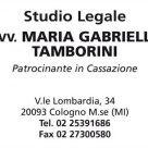 AVV. MARIA GABRIELLA TAMBORINI