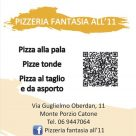 PIZZERIA FANTASIA ALL'11