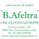 LABORATORIO DI ANALISI B. AFELTRA