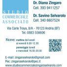 STUDIO COMMERCIALE ASSOCIATO DR. DIANA ZINGARO - DR. SAVINO SELVAROLO