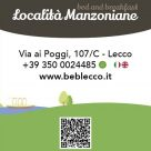 BED AND BREAKFAST LOCALITÀ MANZONIANE