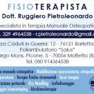 FISIOTERAPISTA DOTT. RUGGIERO PIETROLEONARDO