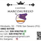CANTINE MARCOAURELIO BY ORO GARGANO